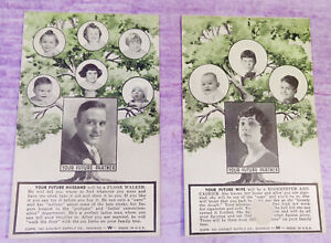 Postcards-Vintage-1941-Future-Partner-Marriage-Wife-Husband-Exhibit-Supply-Co-US