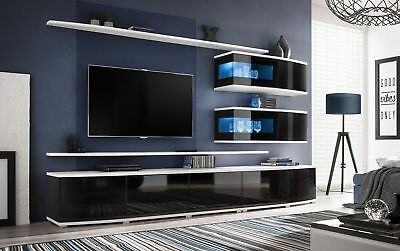 Bon Spokane   Entertainment Center Cabinet / Living Room Modern Tv Wall Unit |  EBay
