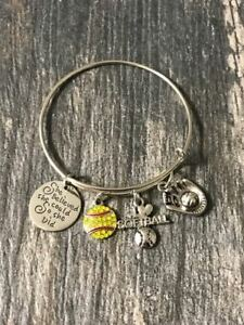 Softball-Jewelry-Softball-Bangle-Bracelet-Girls-Softball-Player-Gift