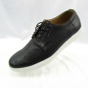 9ba1a2f9203dd2 Details about Adolfo Men s Woven Lace Up Casual Oxford Fashion Sneakers 10 Black  Jason-2 NEW