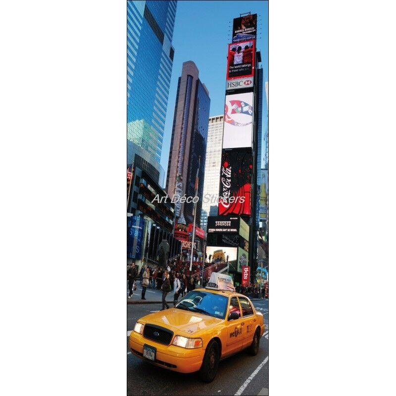 Cartel Póster para Puerta Trampantojo New York Taxi 212 Arte Decoración