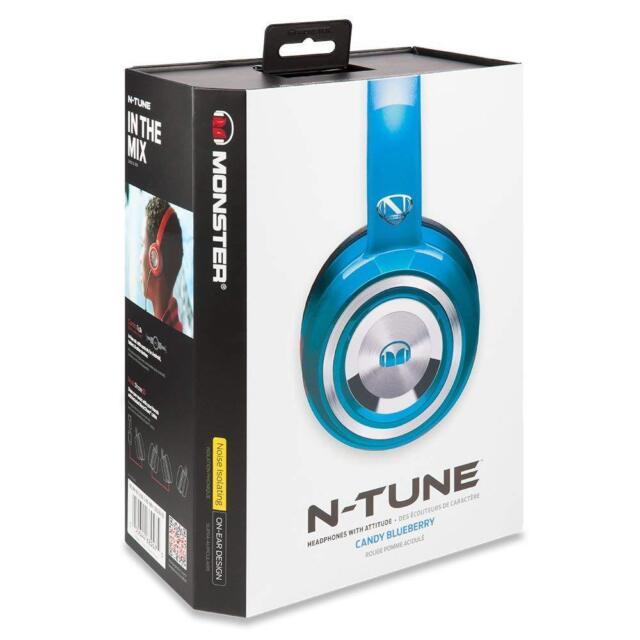 Monster Ncredible N Tune Headband Headphones Candy Blue Ebay
