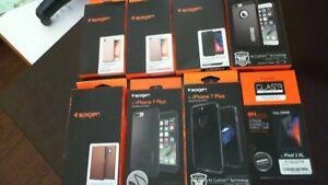 big sale 69125 a152f Details about SPIGEN iPhone 8, iPhone 7+ covers, Pixel 2 XL Glass, Samsung  Galaxy S8+ wallet