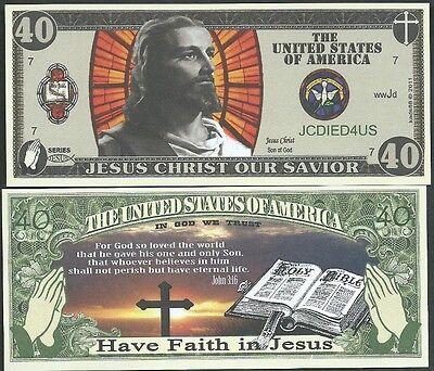 Lot of 25 - CHRISTIAN / JESUS BILLS BIBLE JOHN 3:16