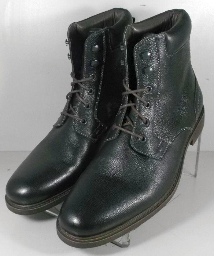 5943384 FTBT50 Men's Shoes Size 10 M Black Leather Boots Johnston Murphy
