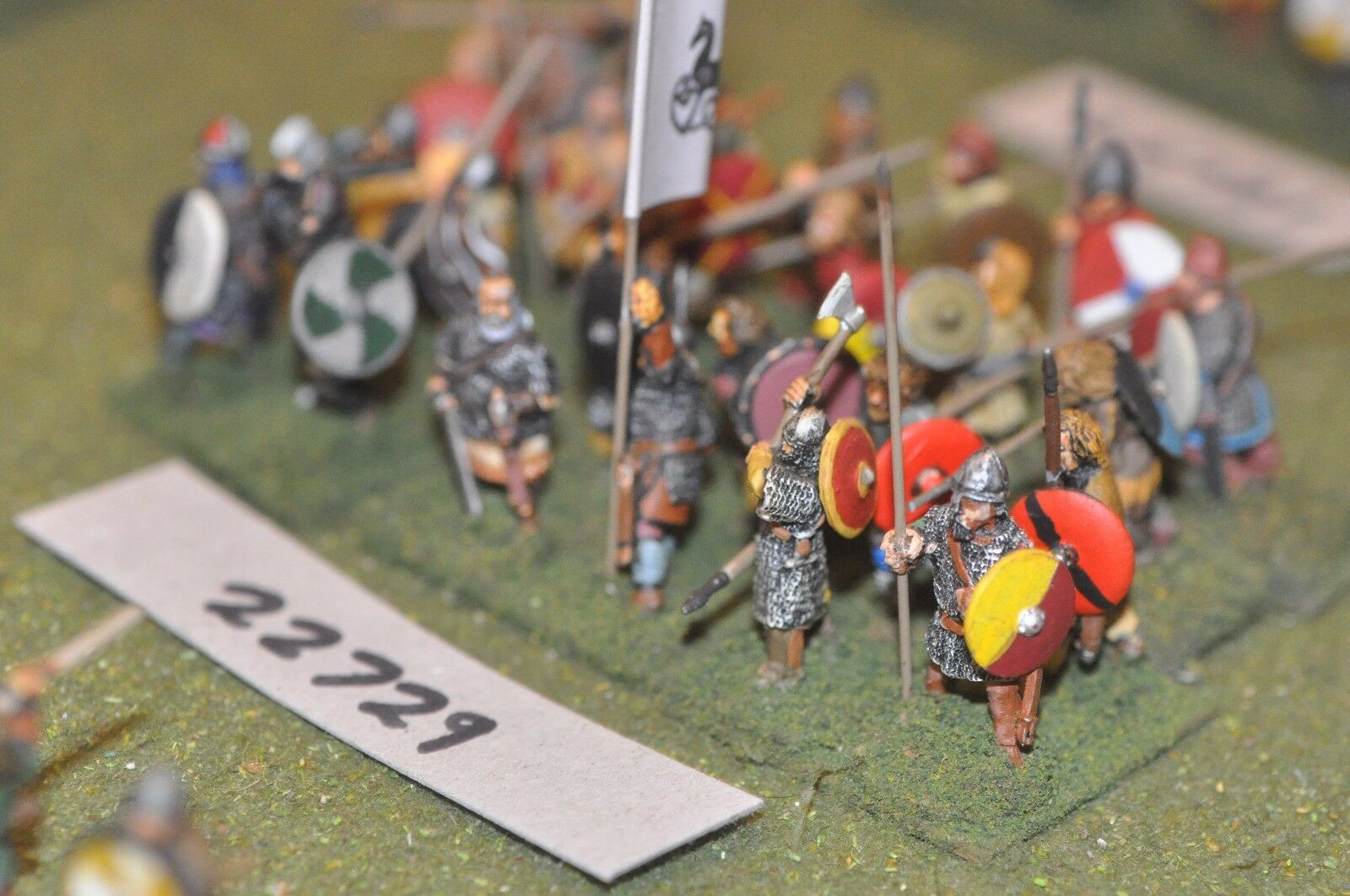 25mm dark ages   anglo saxon - spearmen 24 figs inf - inf (22729)