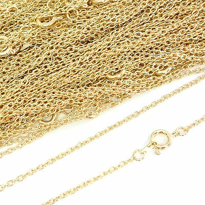 Top Quality 22ct Gold Plated Necklace Trace Chain 16 18 24 Inch