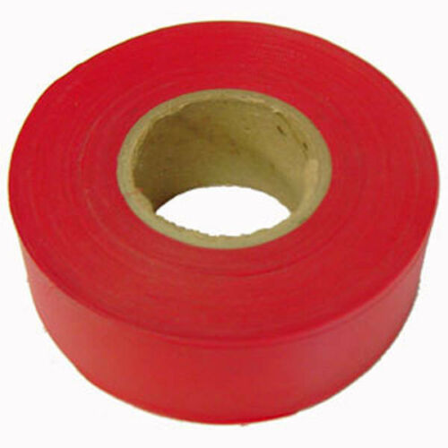 Red 1 3//16 Inch  x 300 Foot Flagging Tape 6-Pack