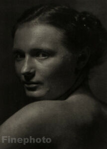 1942/78 JOSEF SUDEK Vintage Czech Photo Gravure MILENA Female Portrait FINE ART