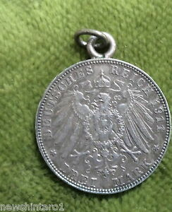 D272-1911-BAVARIA-SILVER-3-MARK-COIN-PENDANT