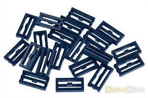 Lego 20x Gitter Fliese 1x2 Dunkel Grau Dark Bluish Gray Tile Grille 2412b Neu