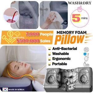GentleLemur memory foam pillow, waterproof, camping, travel, ergonomic, antidust