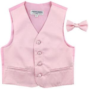 New Boy/'s Kid/'s formal Tuxedo Vest Waistcoat /& Necktie Royal blue US sizes 2-14