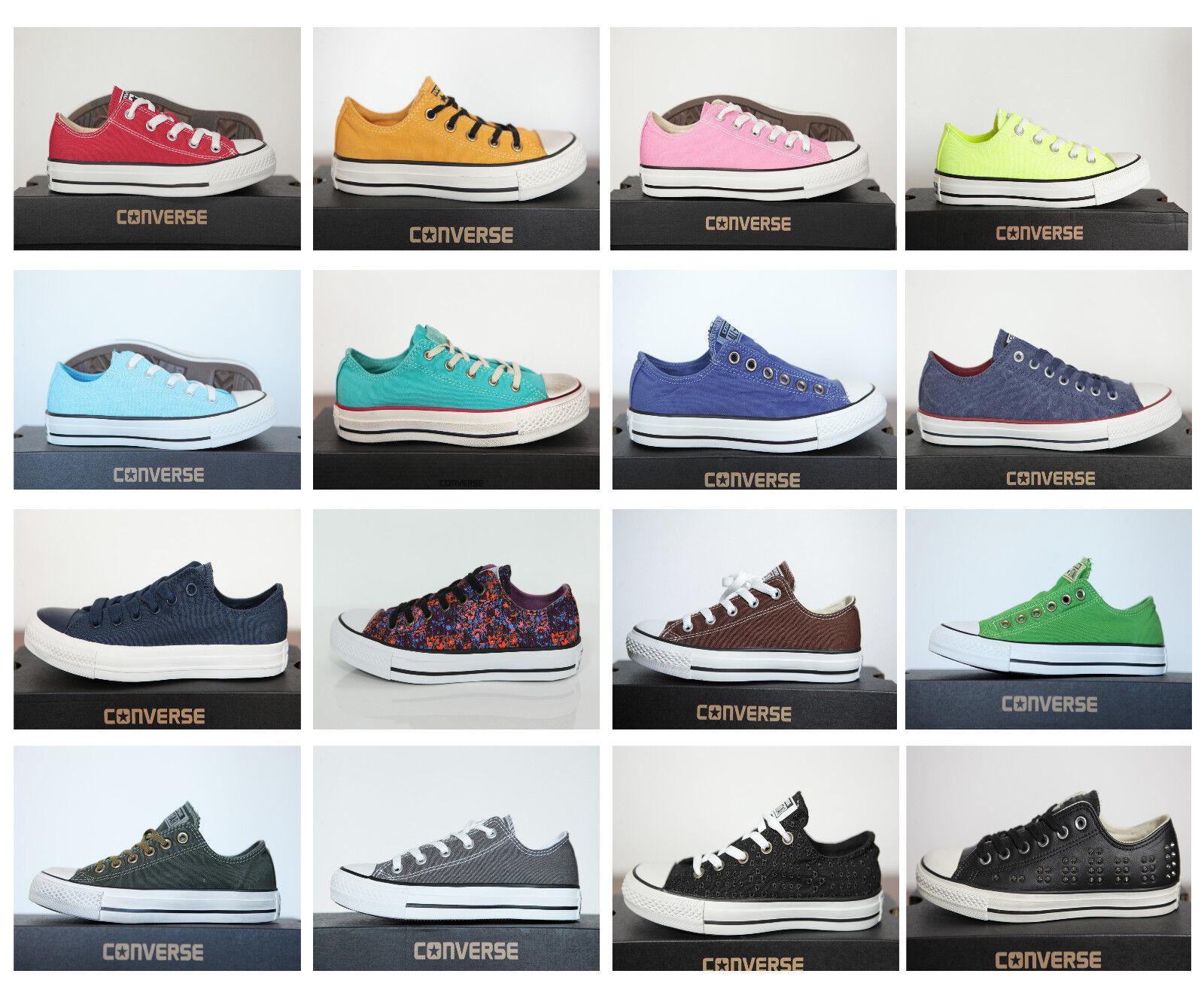 Zapatos promocionales para hombres y mujeres NUEVO ALL STAR CONVERSE CHUCKS Low OX lino + Cuero Zapatillas Deportivas de