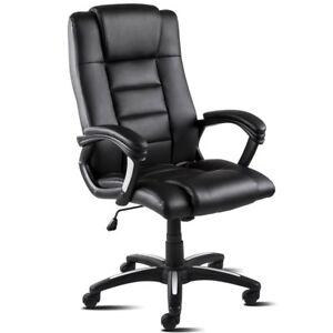 Sillon-de-oficina-tapizada-en-piel-sintetica-color-negro-extra-acolchada-McHaus