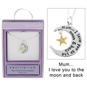 Equilibrium-Mum-Silver-Plated-Moon-Star-Message-Necklace-in-Gift-Box-Mothers-Day