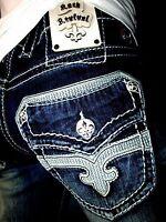 Mens Rock Revival Jeans Dan Bootcut 29 30 31 32 33 34 36 38 40 42 Long