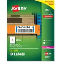 Avery Durable Id Labels - Permanent Adhesive - 3.25 Width X 8.38 Length - 3 / on sale