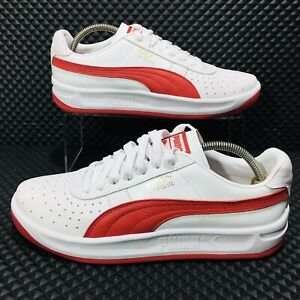 Puma-GV-Special-Men-s-Size-11-Athletic-Casual-Sneakers-White-Red-Shoes