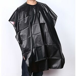 Black-Hot-Waterproof-Salon-Barber-Coloring-Hairdressing-Gown-Hair-Cut-Cape-Scarf