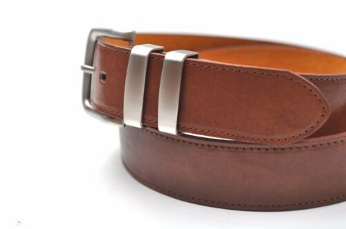"""NEW MENS BLACK BROWN OR TAN LEATHER LINED BELT 5056 SIZE LARGE 36/"""" WAIST NWT"""