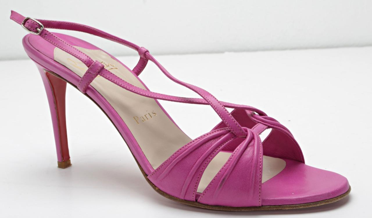 migliore vendita CHRISTIAN LOUBOUTIN Fuchsia High Heel Strappy Slingback Sandal Pump Pump Pump 10-40  alla moda