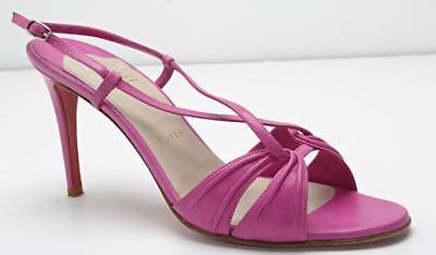 CHRISTIAN LOUBOUTIN Fuchsia High Heel Strappy Slingback Sandal Pump 10-40