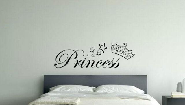 Princess Crown Disney Nursery Children's Bedroom Decal Wall Art Sticker Picture
