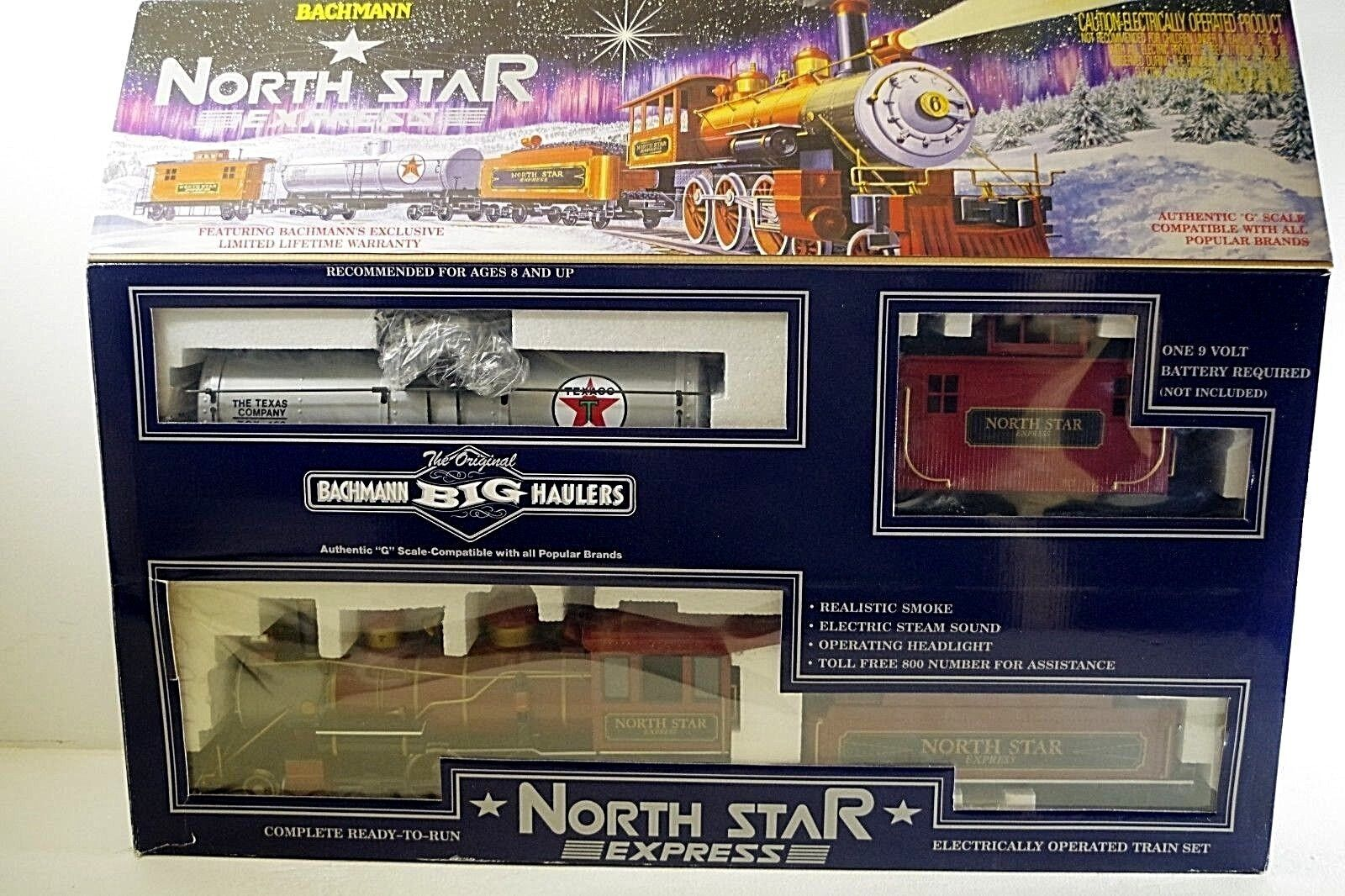 BACHMANN NORTH STAR EXPRESS 90018 TRAIN SET G SCALE MIB
