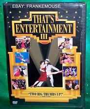 BRAND NEW RARE OOP MGM THAT'S ENTERTAINMENT 3 III CLASSIC MUSICALS MOVIE DVD