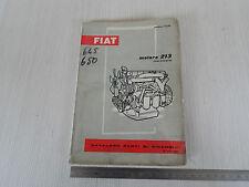 CATALOGO PARTI DI RICAMBIO ORIGINALE MOTORE FIAT 213 PER 650 645 C 40 C 50