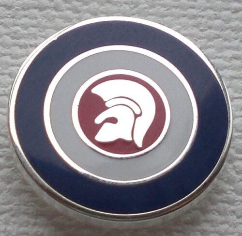 Trojan Target Circle Red White /& Blue Enamel Pin Badge