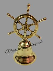 Gefertigt Nach 1945 Antiquitäten & Kunst Original Nautische Maritime Messing Schiff Wheel Bell Wandhängende Tür Glocke Home Dekor Supplement The Vital Energy And Nourish Yin