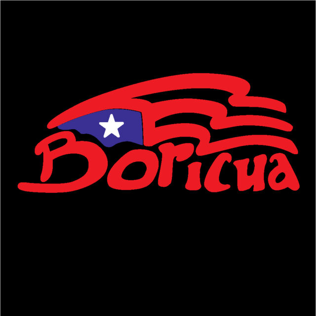 PUERTO RICO CAR DECAL STICKER BORICUA with PUERTO RICAN FLAG #4
