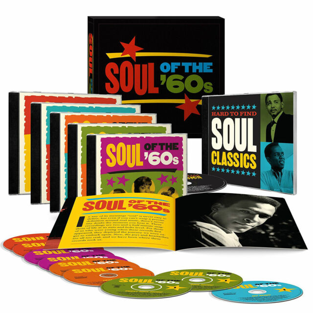 """Various Artists """"Soul of the '60s"""" 9 CD Box Set Time Life Music Discs"""