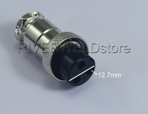 2PCS 3Pin Wire Panel Socket Connector Female TIG Welding /& Plasma Cutting Torch