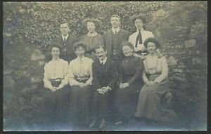 Interesting-Hair-Styles-The-Ladies-Have-in-This-Group-Photograph-Vintage-RPPC