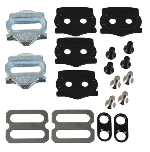 HT Pedal X1E Clipless Pedal Cleat Set /& Mounting Hardware 4 Degree Float Cleats