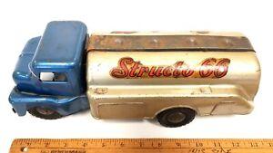 1960-039-s-STRUCTO-034-Structo-66-034-13-034-Gasoline-Truck-Great-Original-Condition