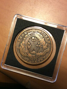 1842 One Penny Bank Of Montreal Token Province Of Canada Coin Ebay