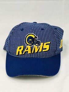 b0cedc753 Details about Vintage 90's LA St. Louis RAMS Hat Pro Line Logo Athletic  Helmet Logo