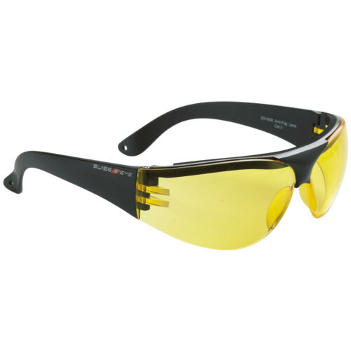 Swiss Eye Outbreak Protector Sunglasses Sport Spectacles Black Frame Yellow Lens