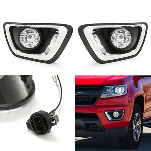 clear lens driving fog lights kit for 2015-2018 chevrolet ... chevy colorado fog light wiring