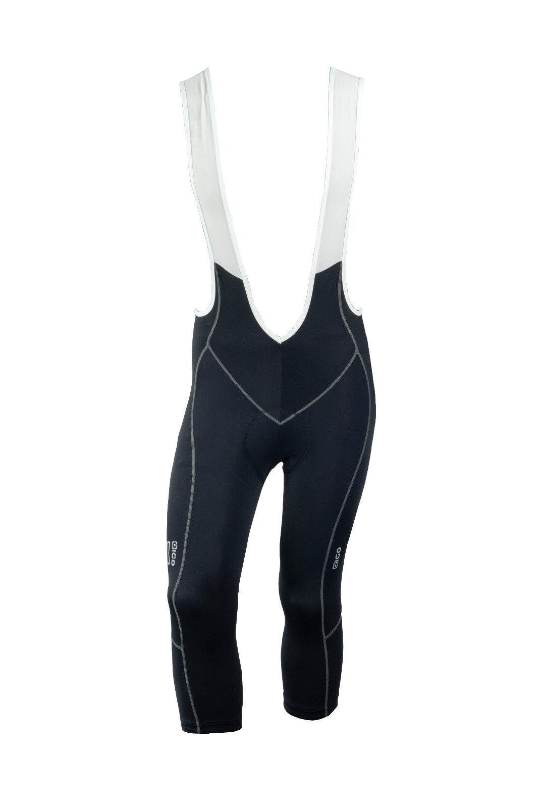 New Mens Cycling   Spin   Spinning Eigo Lycra 'Prime' 3 4 Length Bib Shorts
