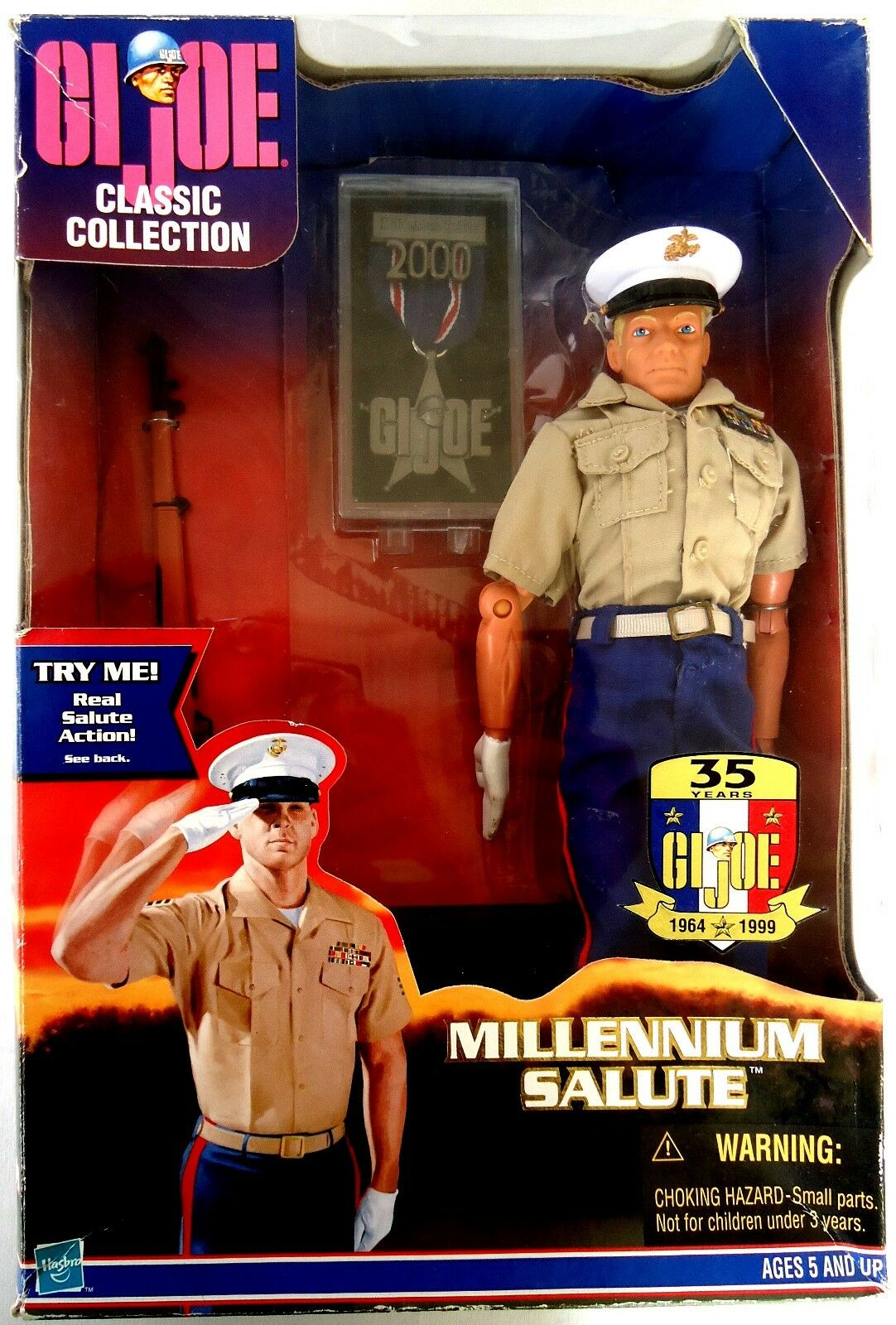 GI Joe MILLENNIUM SALUTE 12  Marine Action Figure (1999 Hasbro) Salute Action