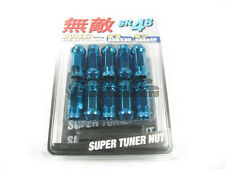 Muteki SR48 Extended Open Ended Wheel Tuner Lug Nuts Chrome Blue 12x1.25mm NEW