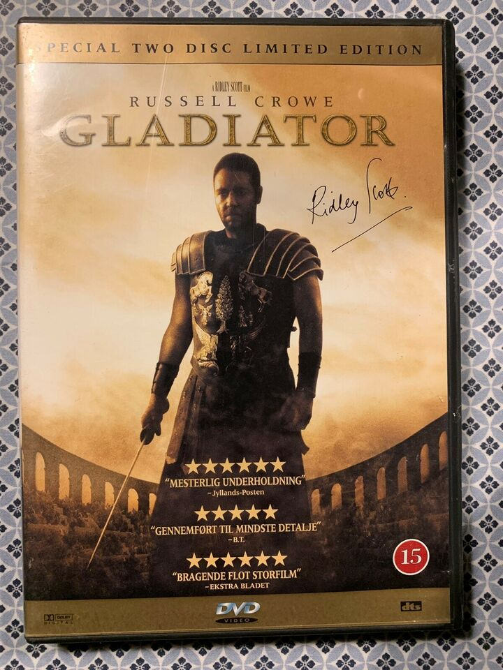 The gladiator , DVD, action