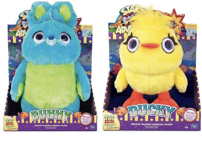 Signature Collection Juguete Story 4 Bunny & Ducky Cochenaval De Felpa De Lujo filmreplica