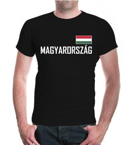 Señores unisex manga corta t-shirt Hungría Hungary Magyarország bandera FanShirt