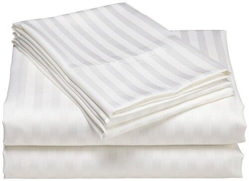 US Bedding Collection-100/% Egyptian Cotton 1000 Thread Count White Stripe !